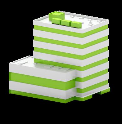 Grünes Kundengebäude AUNOVIS Softwarelösungen