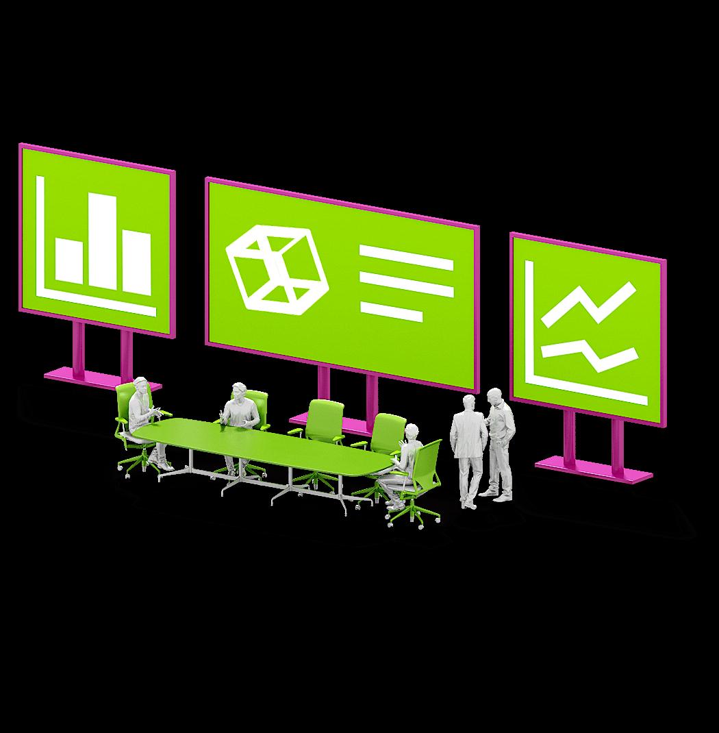 Potentielanalyse und Smart Services 3D Personen am Tisch