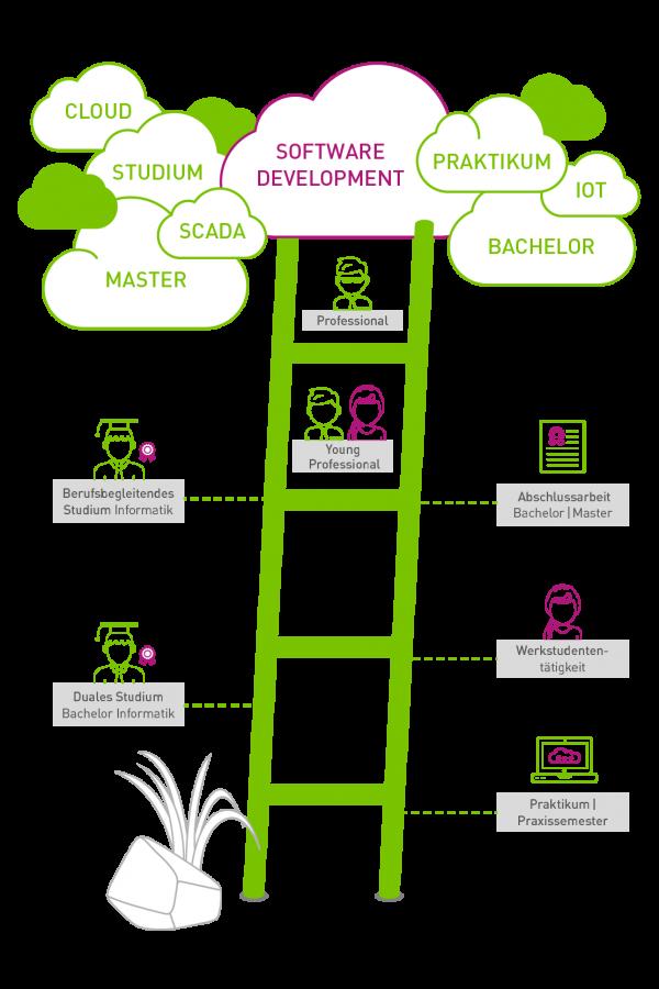 Karriereleiter Software Development AUNOVIS